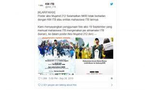 Aksi Mujahid 212 - twitterKM_ITB