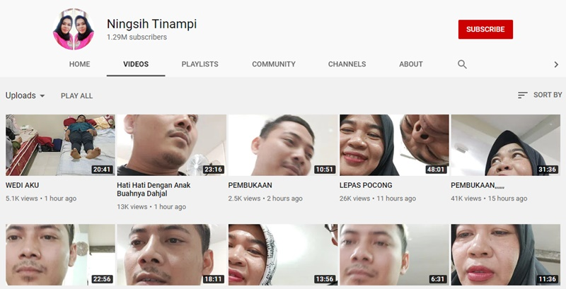 Akun Youtube Ningsih Tinampi