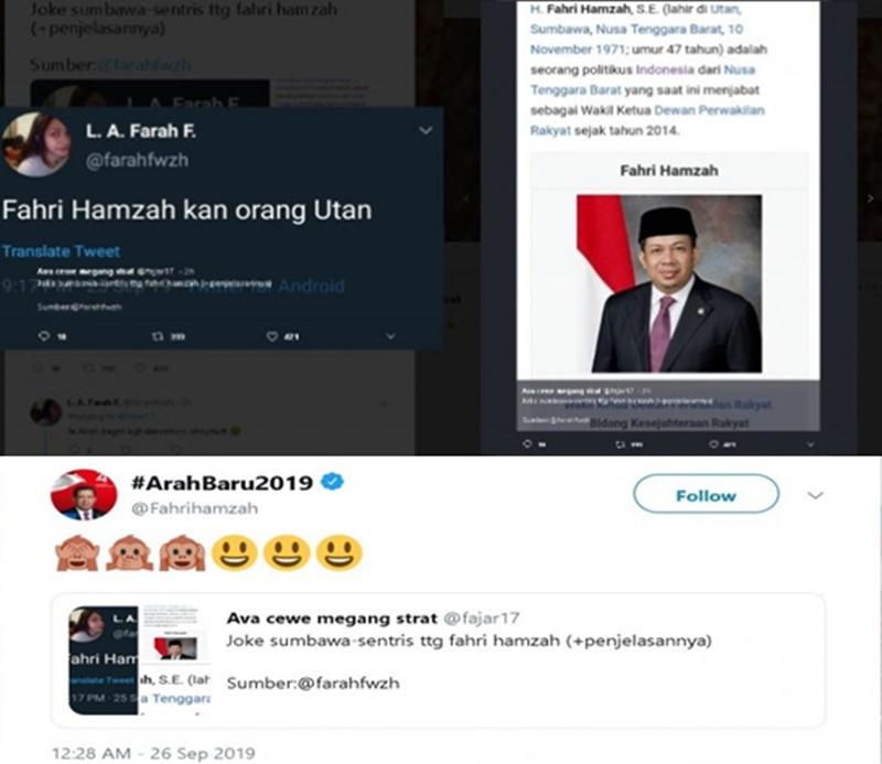 Fahri Hamzah Disebut Orang Utan - Twitter1